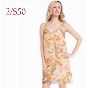 WHBM Havana Gardens Floral Halter Shift Dress NWT